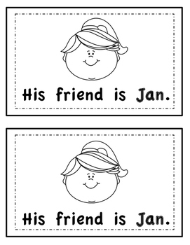 -an Word Family Emergent Reader