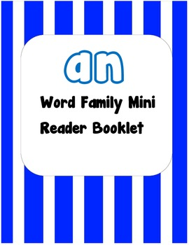 -an Word Family Flip Book