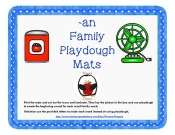 -an Word Family Playdough Mats