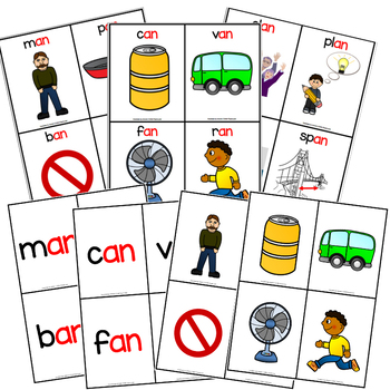 -an Word Family Poster and Flashcards