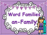 -an Word Family PowerPoint {FREEBIE}