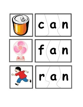 -an Word Family Puzzles