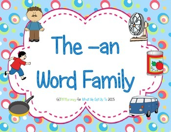 -an Word Family Resource Pack