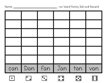 -an Word Family Roll and Record