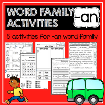 -an Word Family and Rhyming Activities—{No Prep!}