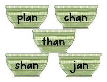 -an and -ap Word Centers