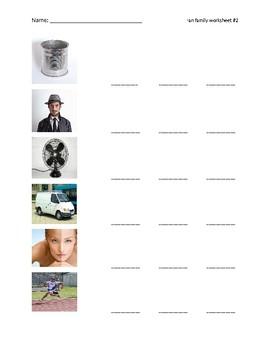 -an family worksheet 2