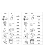 -an & -in Word Families (for Word Work or Centers)