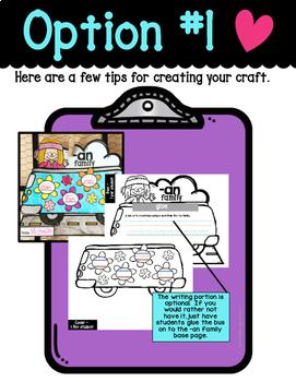-an word family craftivity (CVC-Short a)