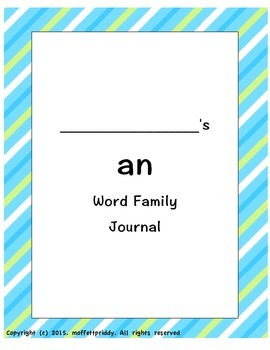 an word family journal