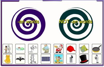 -an word family sort SMARTBOARD game