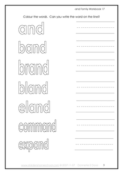 -and Word Family Workbook