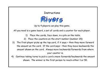 +/- and number recognition to 50 game
