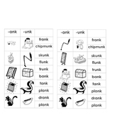 -ank & -unk Word Families (for Word Work or Centers)