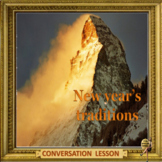 New year's traditions -  ESL adult conversation power-point