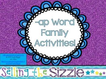 -ap Word Family Activities!