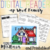 -ap Word Family Digital Reader and Printables