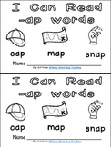 -ap Word Family Emergent Reader Kindergarten with Pocket Chart Cards & More