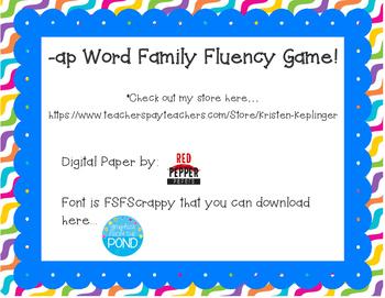 -ap Word Family Fluency Game