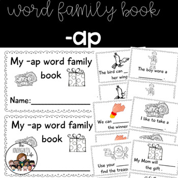 -ap word family minibook: cut and paste, word work