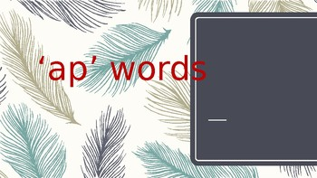 'ap' words PPT