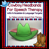 Cowboy Headbands for Speech Therapy