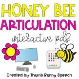 Honey Bee Articulation - Spring Interactive PDF (Distance