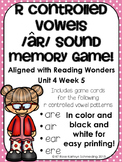 /ar/ Sound Memory Game---Aligned with Reading Wonders Unit 4 Week 5
