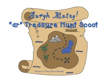 -ar Pirate Treasure Hunt Word Work Scoot