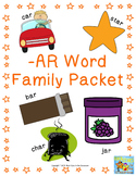 -ar Word Family Packet