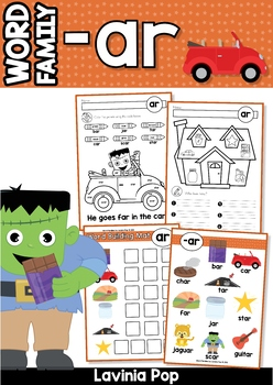 Ar Word Family Unit Games Activities Amp Worksheets By