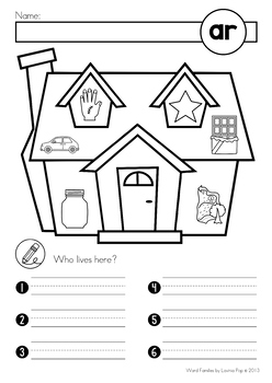 AR Word Family unit - Games, Activities & Worksheets