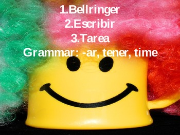 -ar and tener writing assignment