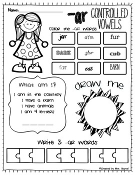 -ar controlled vowels