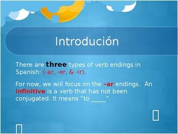 -ar, -er, -ir Verbs: Introduction & BreakDown (Lesson)
