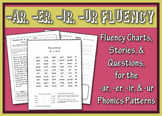 -ar, -er, -ir, -ur Word Family Fluency Charts, Stories, Comprehension Worksheets