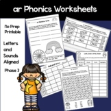 """""""ar"""" sound phonics worksheets and activities"""