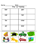 -ar word family worksheets