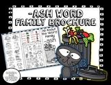 -ash Word Family Brochure - Word Work! Easy to Fold! Easy to Use!