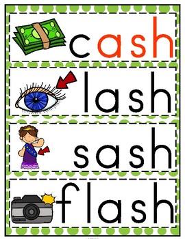 'ash' Word Family CVCC Word Work