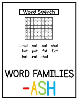 -ash Word Family Pack NO PREP