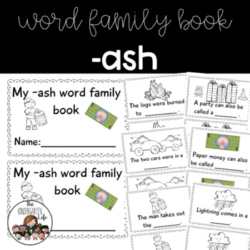 -ash family minibook: cut and paste, word work