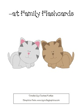 -at Family Flashcards