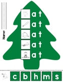-at Word Christmas Tree Cut and Paste