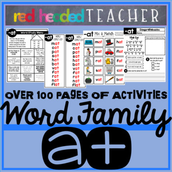 -at Word Family CVC Word Families