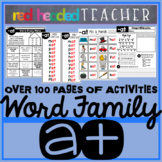 Word Family CVC Worksheets, Posters, and Centers -AT Family