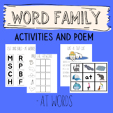 -at Word Family - Activities and Poem - Word Work