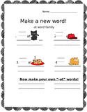 -at Word Family Beginning Letter