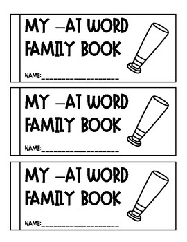 -at Word Family Book