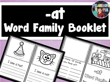 Word Family Booklet -at